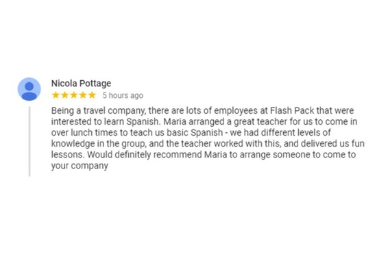 Spanish House London Google review