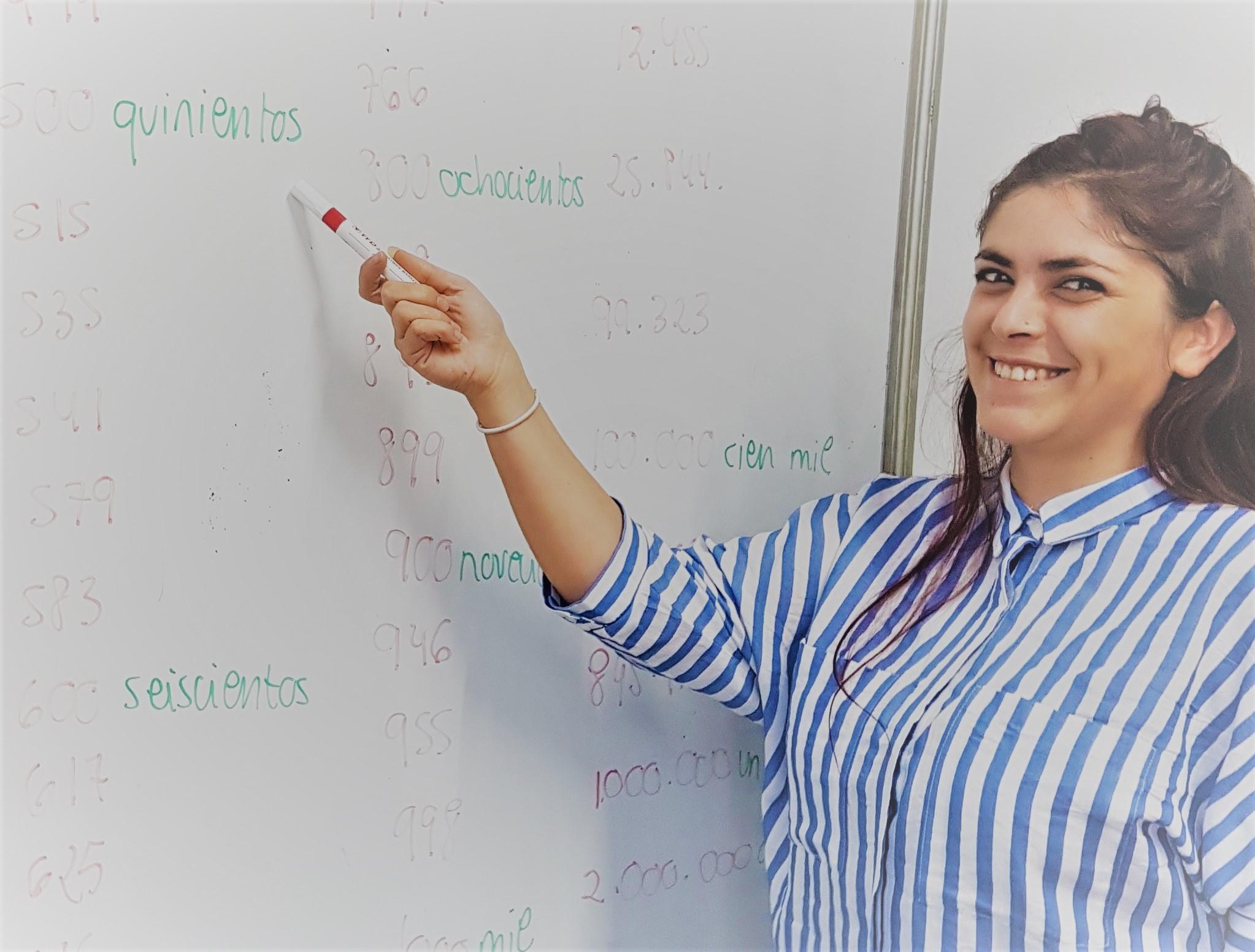 Spanish teacher Irene